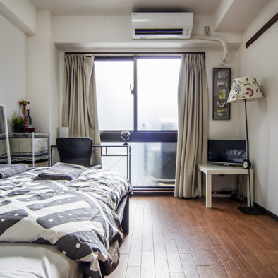 Roppongi apartment living/bedroom